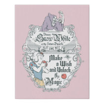 Snow White | Just One Bite Faux Canvas Print