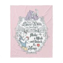 Snow White   Just One Bite Fleece Blanket