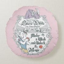 Snow White   Just One Bite Round Pillow