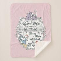 Snow White   Just One Bite Sherpa Blanket