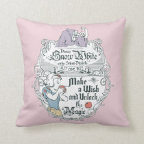 Snow White   Just One Bite Throw Pillow