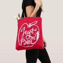 Snow White | Just One Bite - White Tote Bag