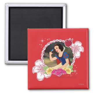 Snow White - Kind to all Big and Small 2 Inch Square Magnet