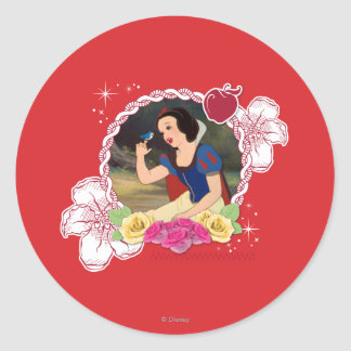 Snow White - Kind to all Big and Small Classic Round Sticker