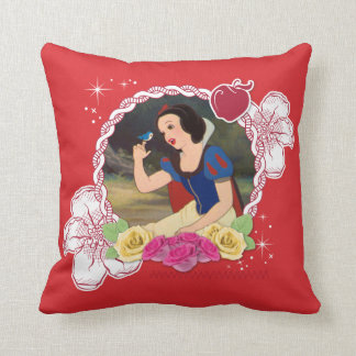 Snow White - Kind to all Big and Small Throw Pillow