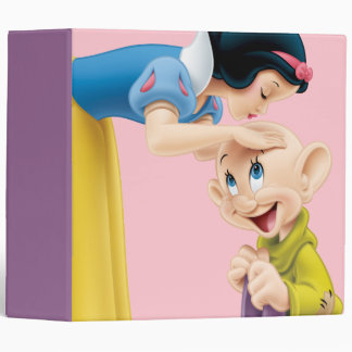 Snow White Kissing Dopey on the Head 3 Ring Binder