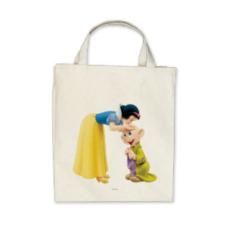 Snow White Kissing Dopey on the Head Tote Bags