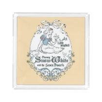Snow White   Lovely Little Songbird Acrylic Tray
