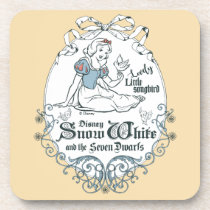 Snow White   Lovely Little Songbird Coaster