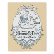 Snow White | Lovely Little Songbird Faux Canvas Print