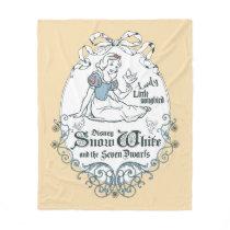 Snow White | Lovely Little Songbird Fleece Blanket