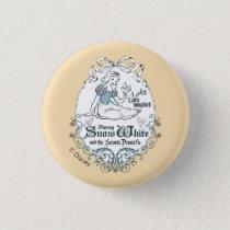 Snow White   Lovely Little Songbird Pinback Button