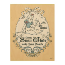 Snow White | Lovely Little Songbird Wood Wall Art