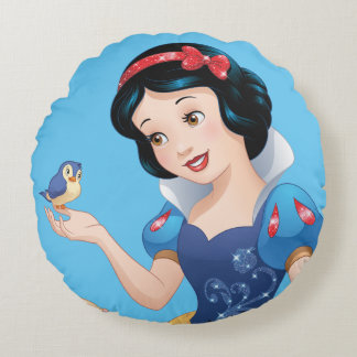 Snow White   Make Time For Buddies Round Pillow