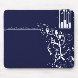 Snow white mouse pad