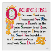 Snow White | Once Upon A Time Acrylic Wall Art