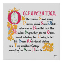 Snow White | Once Upon A Time Faux Canvas Print