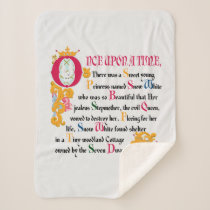 Snow White | Once Upon A Time Sherpa Blanket