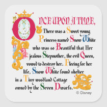 Snow White | Once Upon A Time Square Sticker