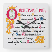 Snow White | Once Upon A Time Square Wall Clock