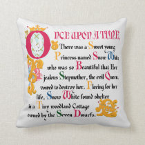 Snow White | Once Upon A Time Throw Pillow