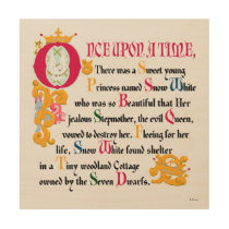 Snow White | Once Upon A Time Wood Wall Decor