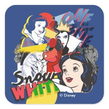 Disney Themed Snow White   One Bite Square Sticker