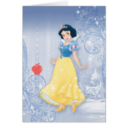 Greeting Card with Princess Snow White with Poisened Apple design