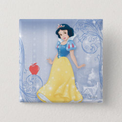 Princess Snow White with Poisened Apple Square Button