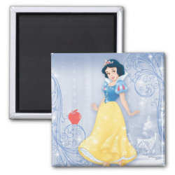 Princess Snow White with Poisened Apple Square Magnet