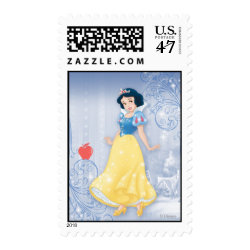 Medium Stamp 2.1' x 1.3' with Princess Snow White with Poisened Apple design