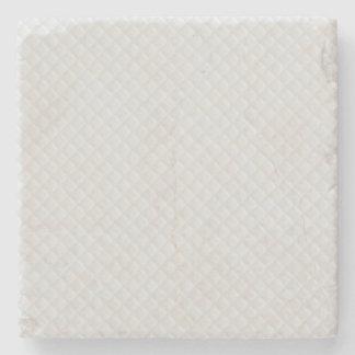 Snow White Quilt Pattern Stone Beverage Coaster