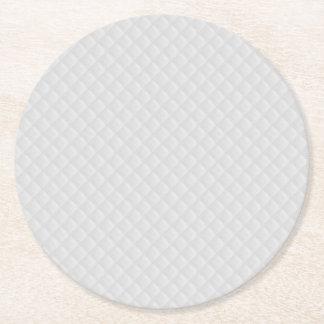 Snow White Quilt Pattern Round Paper Coaster
