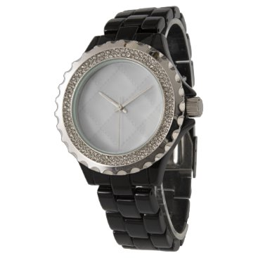 Professional Business Snow White Quilt Pattern Wrist Watch