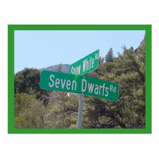 Snow White & Seven Dwarfs Postcard