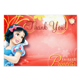 """Snow White Thank You Cards 3.5"""" X 5"""" Invitation Card"""