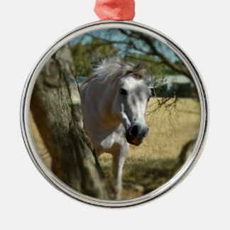 Snow White The Horse,_ Metal Ornament