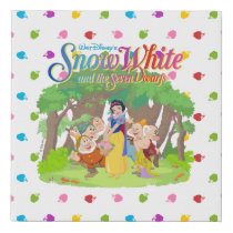 Snow White & the Seven Dwarfs | Wishes Come True Faux Canvas Print