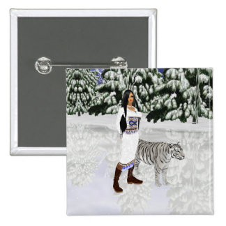 Snow White Tiger Button