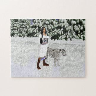 Snow White Tiger Puzzle