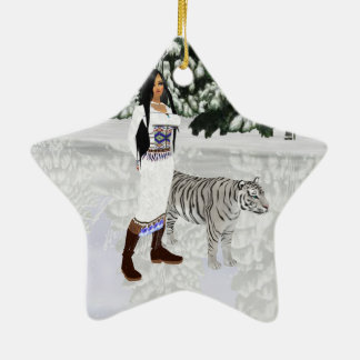 Snow White Tiger Star Ornament