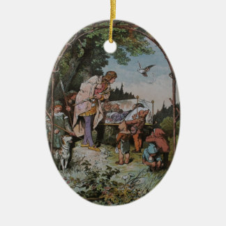 Snow White Waits to be Wakened by the Prince Ceramic Ornament
