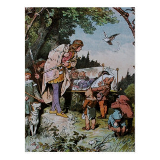 Snow White Waits to be Wakened by the Prince Postcard