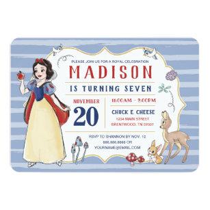 5 or 12 birthday invitation cards snow queen ref 312