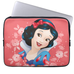 Stylized Marshmallow Silhouette Neoprene Laptop Sleeve 13 inch