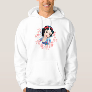 Snow White | Watercolor Floral Frame Hoodie