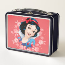 Snow White | Watercolor Floral Frame Metal Lunch Box
