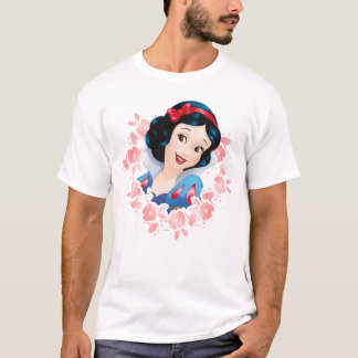 Snow White | Watercolor Floral Frame T-Shirt