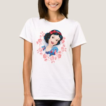 Disney Themed Snow White | Watercolor Floral Frame T-Shirt