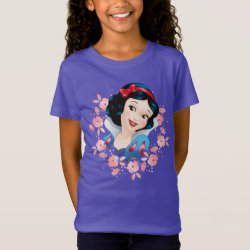 Girls' Fine Jersey T-Shirt with Stylized Marshmallow Silhouette design